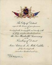 Image of 1952.012.001 - Invitation