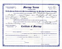 Image of 2014.064.030 - Certificate, Marriage