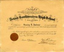 Image of 2007.078.001 - Diploma