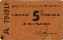 Image of 1975.047.015 - Ticket, Transfer
