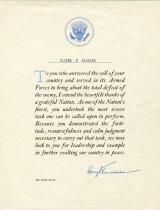 Image of 2014.088.019 - Certificate, Commemorative