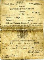 Image of 2016.067.038 - License, Transportation