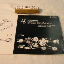 """Image of Title: """"11 Years of Drawn Connections"""" ECNZ Book of Satirical Cartoons on Power Reforms Publ: 1998"""