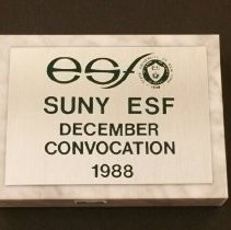 Image of Suny-ESF December 1988 Convocation Paper Weight 'Momento'