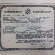 Image of 2003.31.01a - Certificate, Citizenship