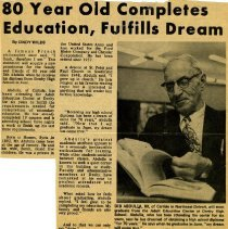 Image of 80 year old completes Educatio