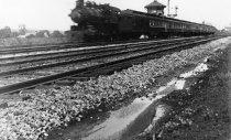 Image of 00177 - Locomotive on tracks