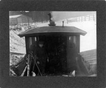 Image of 01766 - Steam Locomotive  in snow.    #5114