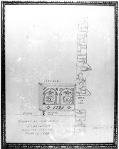 Image of 1051 - Sketch of Five Plate Jamb Stove