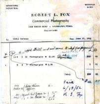 Image of CD123 - InvoiceRobert L. Fox,