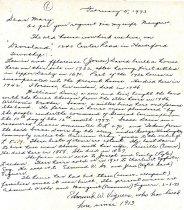 Image of Edmund Viguers Letter 1973