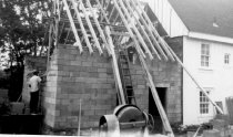 Image of Flintlock - Back view of construction progress1962 addition.