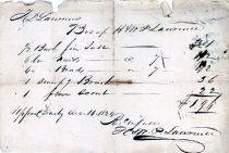 Image of HMP Lawrence Receipt 1824