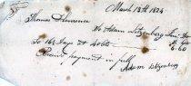 Image of Adam Llitzenberg receipt 1824