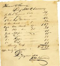 Image of Receipt 1825 for supplies