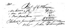 Image of John Cloumpton Receipt for knives