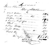 Image of Receipt for supplies 1823