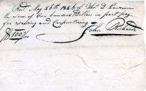 Image of LW065 - Receipt for Sawing and Carpentry