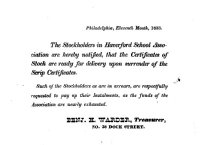 Image of LW090 - Stockholders in Haverford School Association Notice