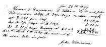 Image of Masonry Work Johon Williamson 1849