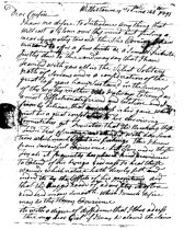 Image of LW172 - Letter to Cousin Malsey Lawrence of Marple, Delaware County