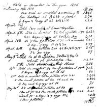 Image of LW186 - Ledger of items sold 1856