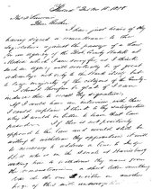 Image of LW188 - Letter from W P Lawrence to brother Thomas D Lawrence