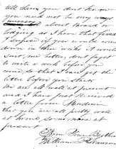 Image of Letter W P Lawrence 1861 p. 2