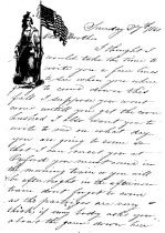 Image of Letter W P Lawrence 1861