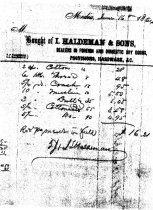 Image of Receipt from I Haldeman & Sons, Media
