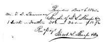 Image of LW207 - Jacob Sharpless receipt 1845