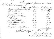 Image of LW208 - Receipt for dry goods 1845