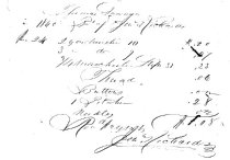 Image of LW210 - Receipt for dry goods 1860