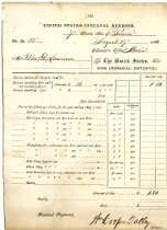 Image of LW211 - United States Internal Revenue Tax form 1866