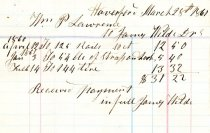 Image of LW214 - James Wilds Receipt 1861