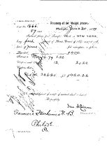 Image of LW221 - Transfer Check from the Farmers & Mechanics Bank 1879