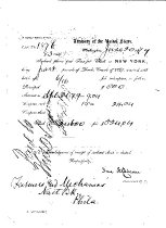Image of LW222 - Transfer Check from the Farmers & Mechanics Bank 1879