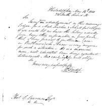 Image of Letter requesting teaching position 1850