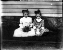 Image of 01608 - Two girls with Rabbit and Cat