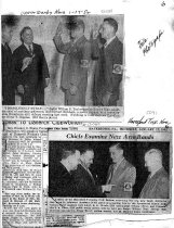 Image of Chiefs Examing Arm Brands 1952