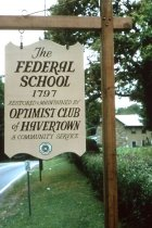 Image of Sign Federal School 1978