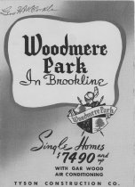 Image of 2013.20 - Advertising Brochure for Woodmere Park, Havertown, PA