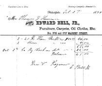 Image of LW246 - Receipt for Furniture - Edward Bell, Jr.
