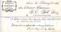 Image of LW249 - Receipt from E Holl Jewelry Store - Media, PA