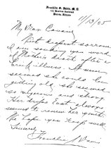Image of LW258 - Letter of Condolence 1905