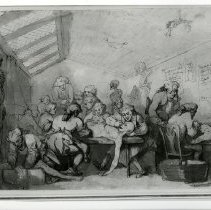 Image of Hunter's dissecting room. Photograph of drawing