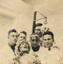 Image of Five men posing with a cadaver.