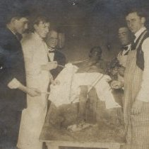 Image of Five men with a cadaver.
