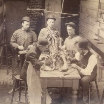 Image of Five men with cadaver