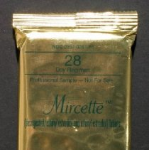Mircette Gold Foil Outer Packaging With Green Writing Contains Green Plastic Clam Shell Dispenser With Silver Foil Blisterpack Which Hold Tablets Each White Tablet Contains 0 15 Mg Desogestrel And 0 02 Mg Ethinyl